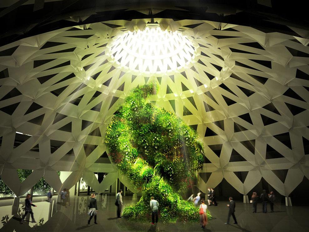 Expo 2015 il padiglione italia shelidon for Costruisci piani senza cupola