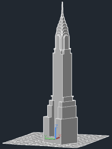 chrysler building - autocad