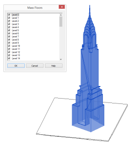 revit - chrysler building - floors