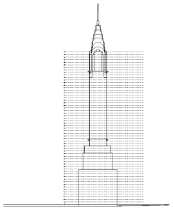 revit - chrysler building - prospetto