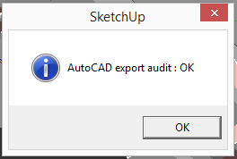 sketchip export to cad - ok