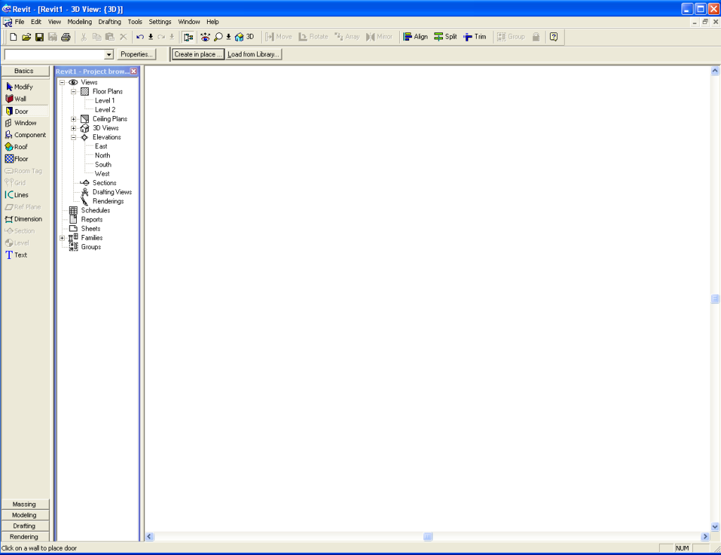 This is what Revit used to look like. Amazingly enough, project browser stayed the same.