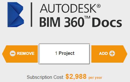 BIM 360 docs price