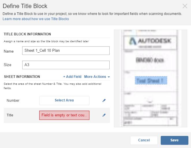 Define Title Block - no Vector