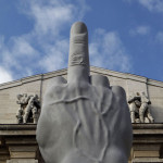 Maurizio-Cattelan-Middle-Finger-Statue-0