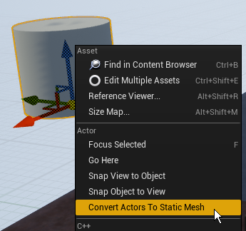 Convert Actors to Static Mesh
