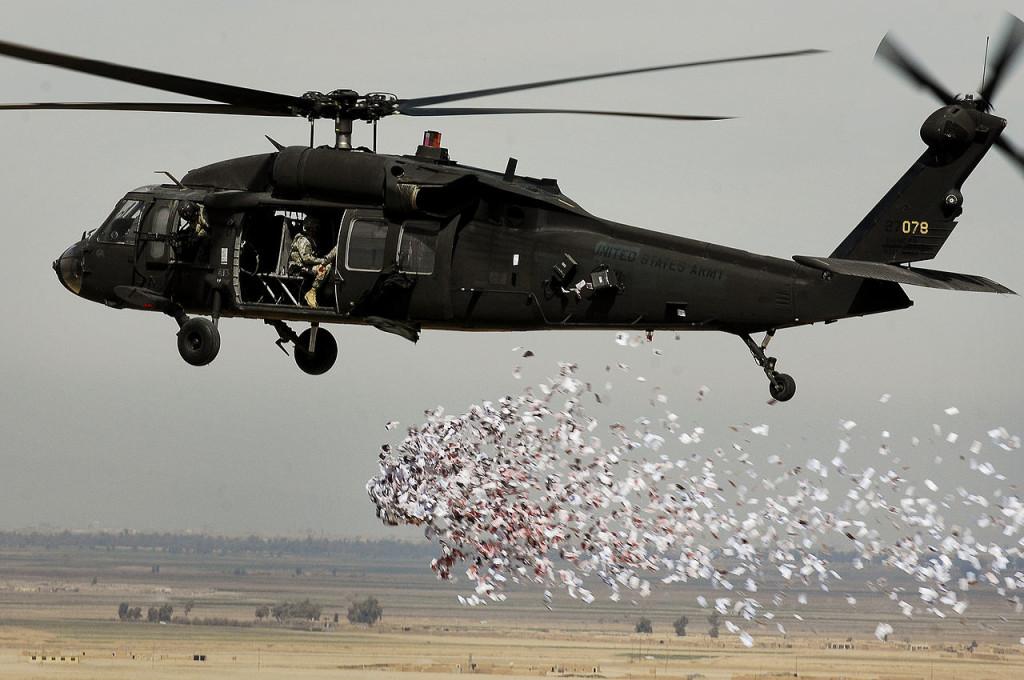 Non mi sorride l'idea di un cliente che lancia PIR ciclostilati dall'elicottero.