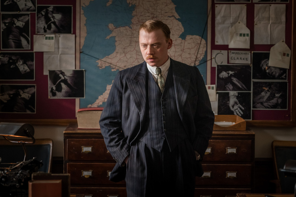 WARNING: Embargoed for publication until 00:00:01 on 11/12/2018 - Programme Name: The ABC Murders - TX: n/a - Episode: n/a (No. 2) - Picture Shows:  Inspector Crome (RUPERT GRINT) - (C) Mammoth Screen/Agatha Christie Ltd - Photographer: Photographer TBC