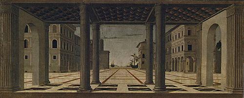 La Città Ideale, attribuita a Francesco Di Giorgio Martini.