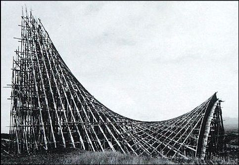 Struttura per la cappella Lomas De Cuernavaca di Félix Candela.