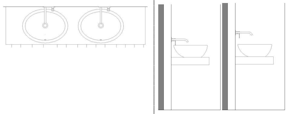 Problema tipico numero 1: in pianta sembra che vada tutto bene, ma il rubinetto viene montato troppo basso o troppo alto rispetto al suo lavandino.
